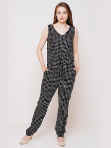 728ce54470cf BLACK CHECKED JUMPSUIT