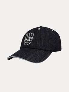 9db3c6cb302 BLACK PRINTED BASEBALL CAP