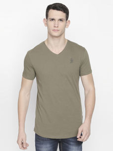 MILITARY GREEN SOLID T-SHIRT
