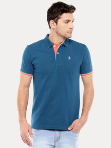 LEGION BLUE SOLID POLO T-SHIRT