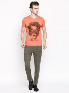 FADE ORANGE PRINTED T-SHIRT