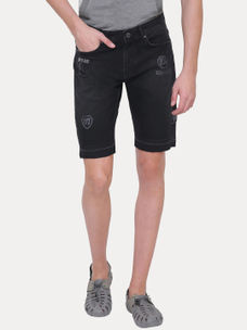 BLACK SOLID SHORTS