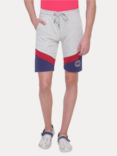 LIGHT GREY MELANGE SHORTS