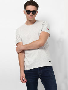 LIGHT GREY MELANGE T-SHIRT