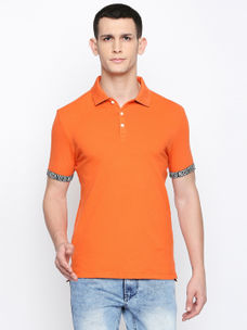 ORANGE SOLID T-SHIRT