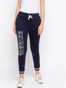 Disrupt Navy Graphic Print Regular-Fit Jogger For Women's