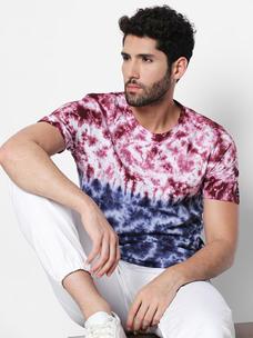 Disrupt Blue Cotton T-Shirt