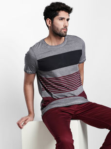 Disrupt Grey Cotton T-Shirt