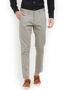 Easies(By Killer) Grey Color Cotton Slim Trouser