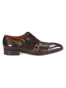 Dark Brown Monk-strap Shoes