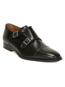 Black Monk-strap Shoes