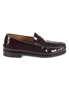 Burgundy Formal Slip-ons