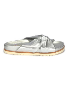 Silver Slip-ons