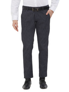 Easies(By Killer) Solid Black Color Slim Fit Trousers