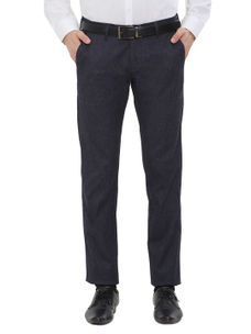 Easies(By Killer) Solid Blue Color Slim Fit Trousers