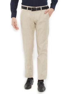 Easies by Killer Solid Beige Color Slim Fit Trousers