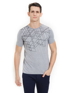 Easies by Killer Printed Grey Color Slim Fit T-Shirt