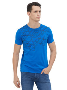 Easies by Killer Printed Blue Color Slim Fit T-Shirt