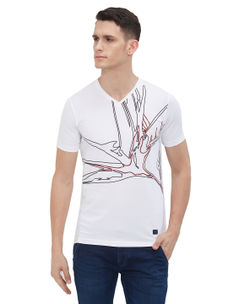 Easies by Killer Printed White Color Slim Fit T-Shirt