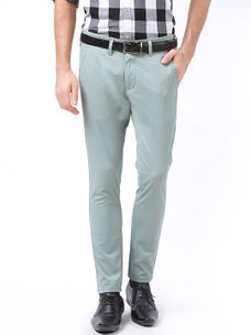 Easies by Killer Green Color Cotton Slim Trousers