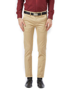 Solid Beige Color Trousers