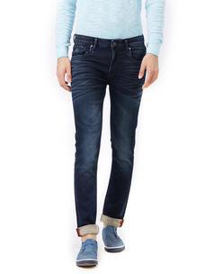 Solid Beige Color Slim Fit Jeans