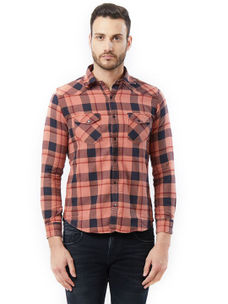 Checkered Brown Color Shirts