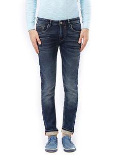 Solid Blue Color Slim Fit Jeans