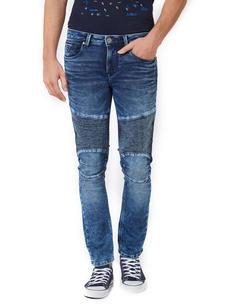 Solid Blue Color Skinny Fit Jeans