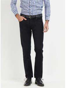 Solid Blue Slim fit Formal Jeans