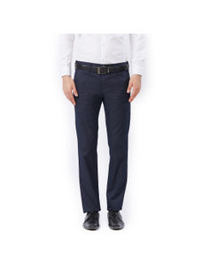 Solid Black Slim fit Formal Jeans