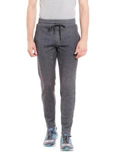 Solid Grey Color Regular Fit Track Pant