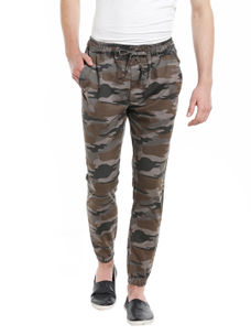 Solid Green Color Regular Fit Track Pant