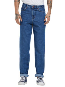 Solid Blue Color Comfort Fit Jeans