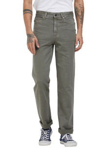 Solid Grey Color Comfort Fit Jeans
