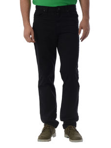Solid Black Color Slim Fit Jeans