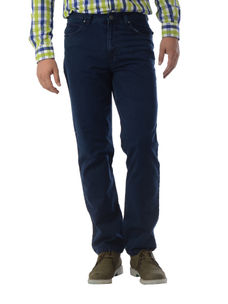 Solid Blue Color Regular Fit Jeans