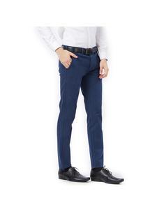 Solid Blue Color Slim Fit Trouser