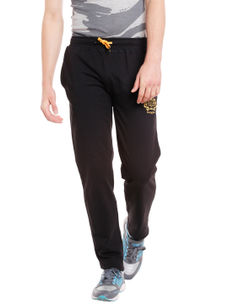 Solid Black Color Slim Casual pant