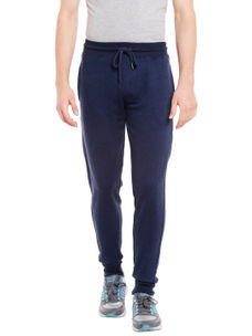 Solid Blue Color Slim Casual pant