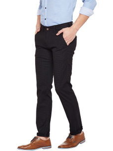 Solid Black Color Casual Trouser