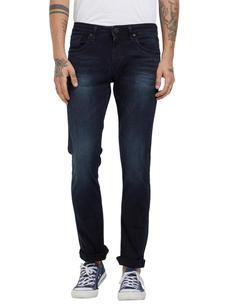 Solid Grey Color Slim Fit Jeans