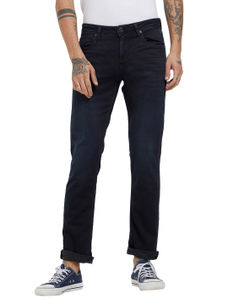 Solid Black Color Slim Fit Jeans