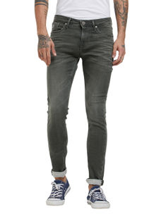 Solid Grey Color Skinny Fit Jeans