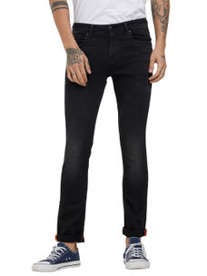 Solid Black Color Skinny Fit Jeans