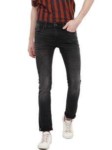 Easies(By Killer) Solid Black Color Cotton Slim Fit Jeans