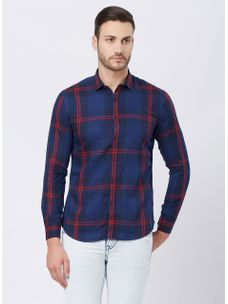 Checkered Blue Color Shirt