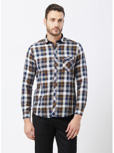 Checkered Brown Color Shirt
