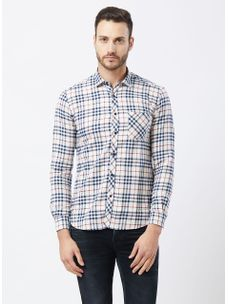 Checkered Beige Color Shirt