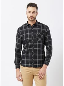 Checkered Black Color Shirt